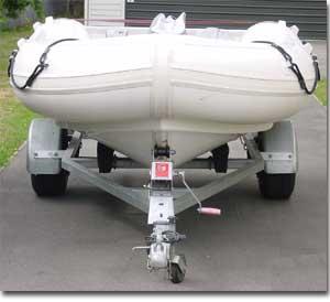 3.4 metre RIB powered by a Kawasaki jetski